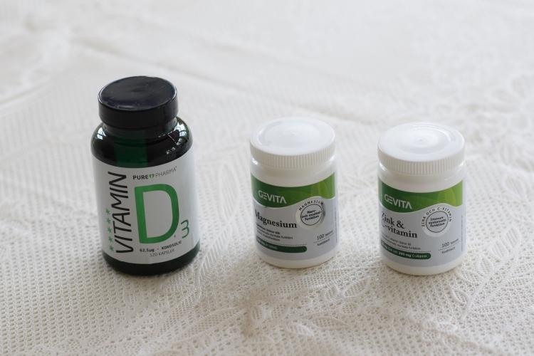 D-vitamin, Magnesium och Zink