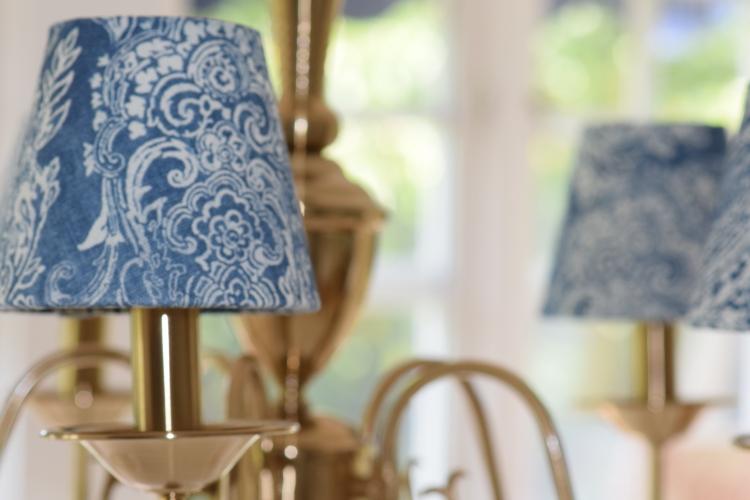 Vacker lampskärm från Vallentuna skärmatelje.