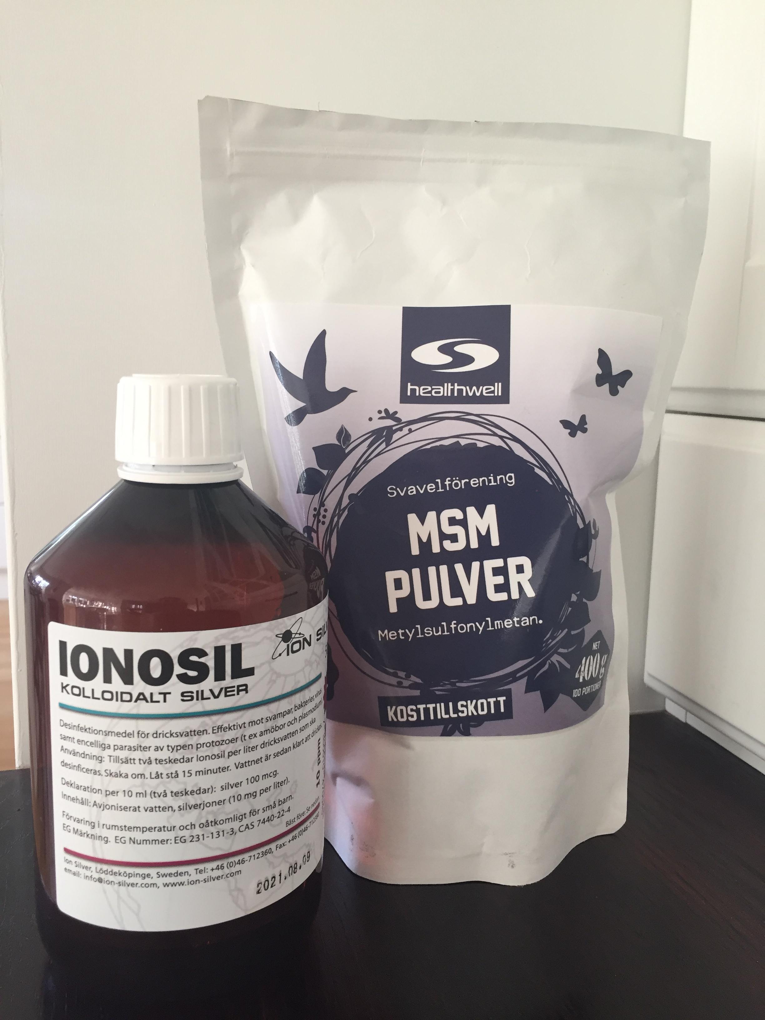 Kolloidalt silver och MSM